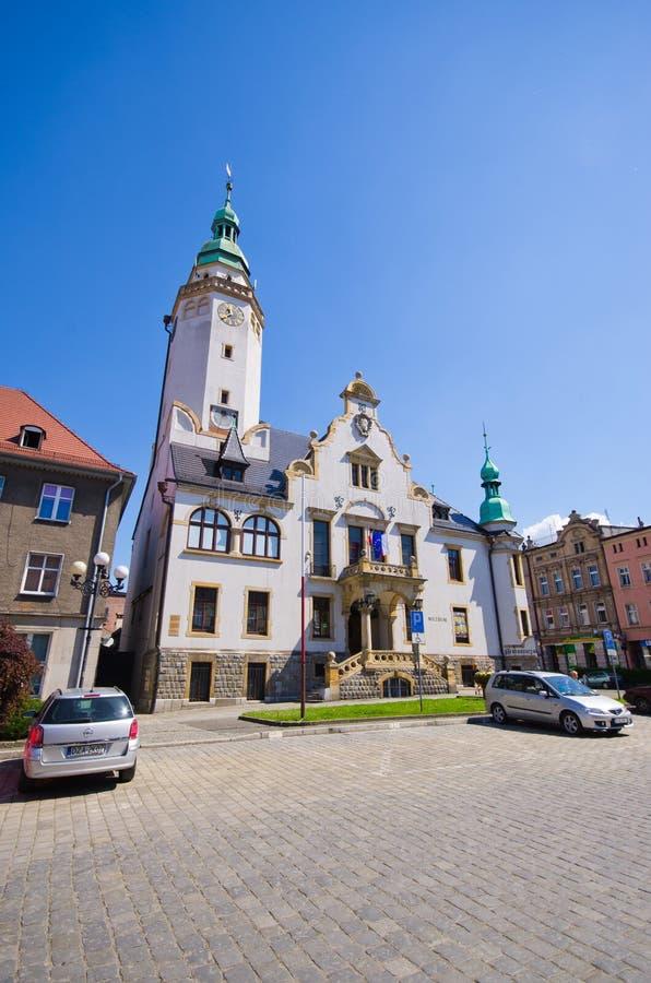 Городок Ziebice в Польше стоковые изображения rf