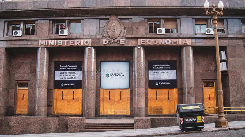 Городская жизнь и взгляд улицы в Буэносе-Айрес стоковая фотография rf