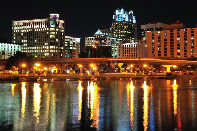 городская ноча orlando стоковые изображения rf