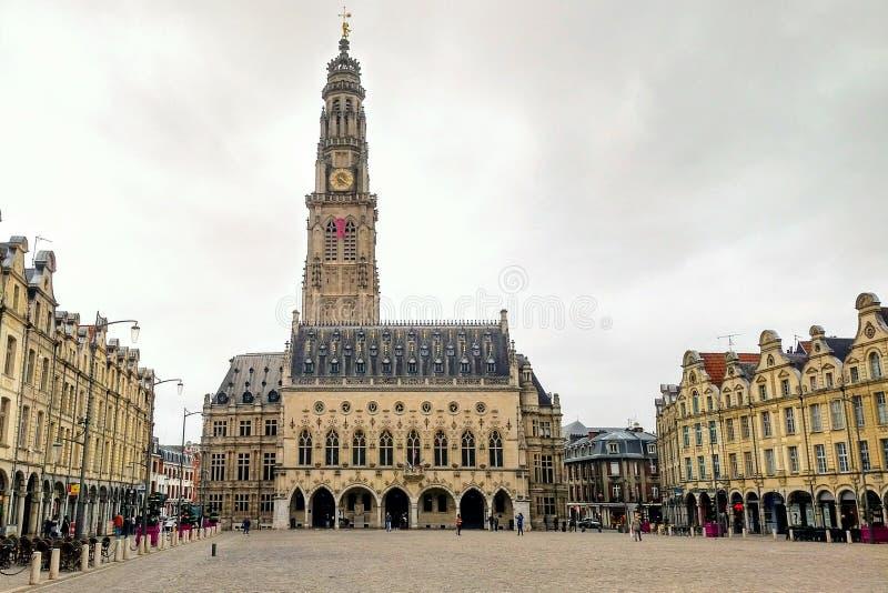 Городская площадь арраса, Франции стоковое изображение rf
