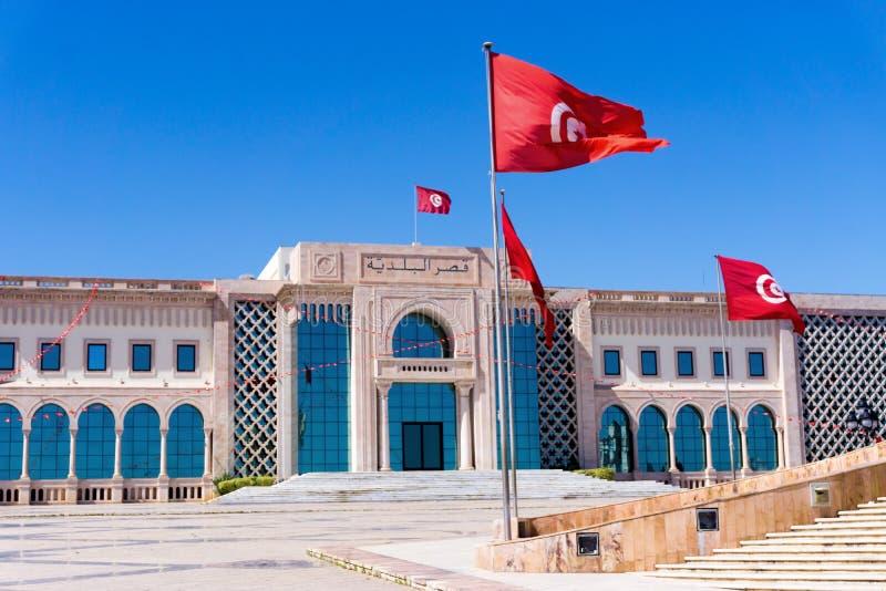 Городская ратуша в квадрате Kasbah в Тунисе, Тунисе стоковое фото