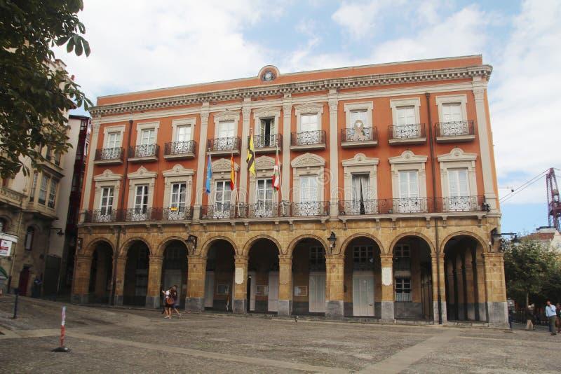 Городская ратуша в Portugalete, Баскониях, Испании стоковая фотография rf