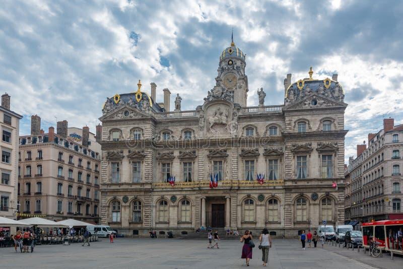 Городская ратуша Лиона, Франции стоковое изображение