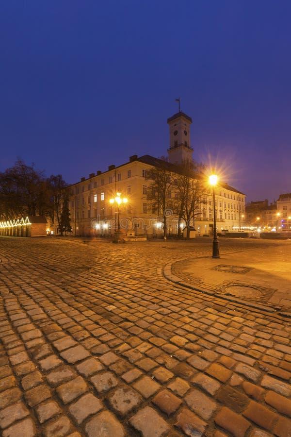 Городская ратуша Львова стоковые изображения rf