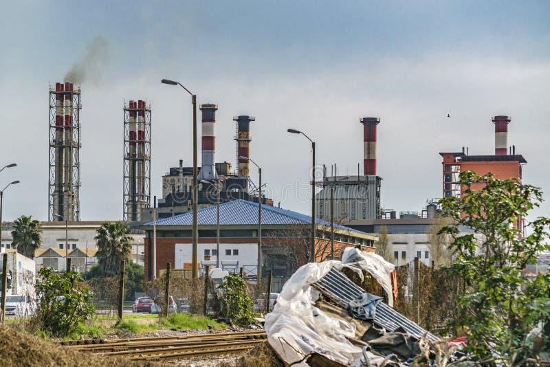 Городская сцена отброса стоковые фото