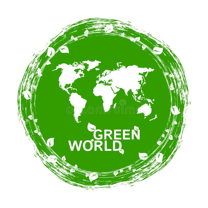 Городская экологичность Концепция вектора зеленого мира плоская иллюстрация вектора