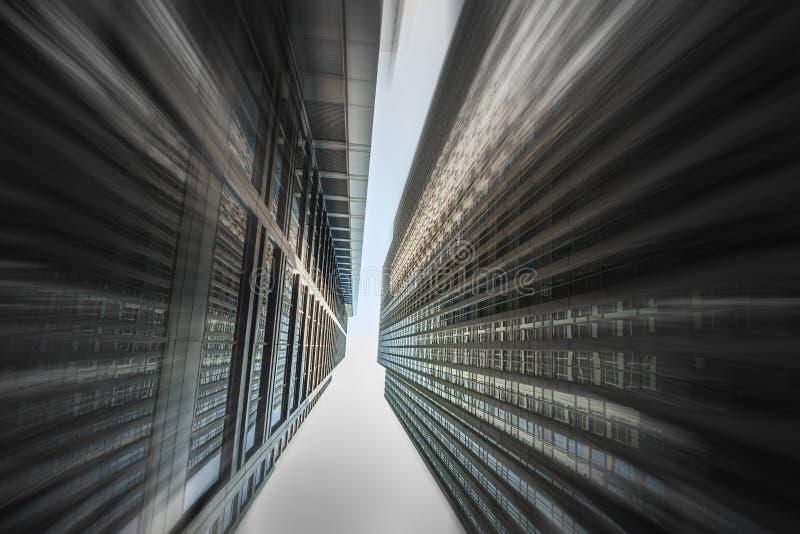 городские небоскребы стоковое изображение rf