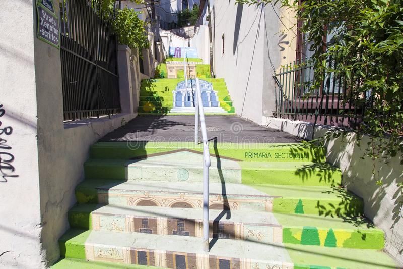 Городское искусство на улице Xenofon стоковые фото