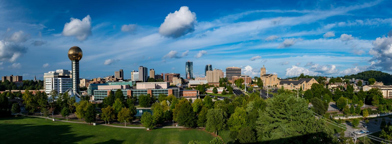 Городское Ноксвилл Теннесси США стоковое изображение rf