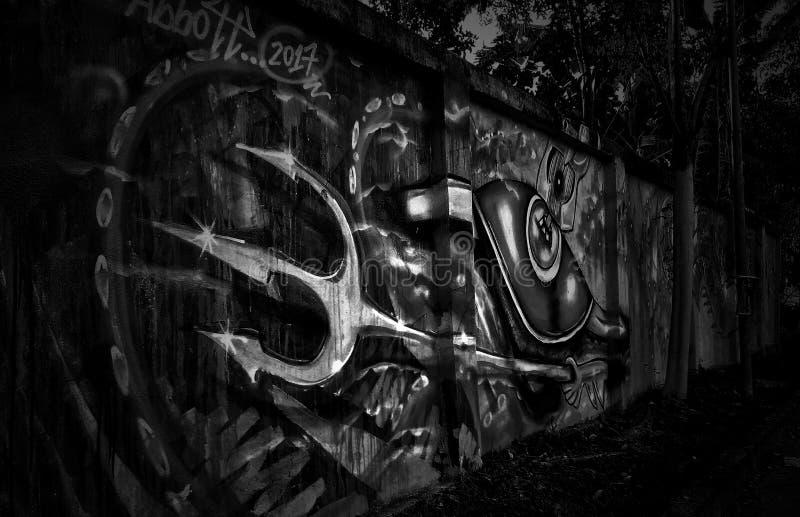 Городское bnw искусства стоковые фотографии rf