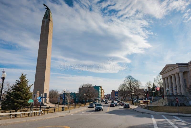 Городское Plattsburgh Нью-Йорк стоковая фотография rf