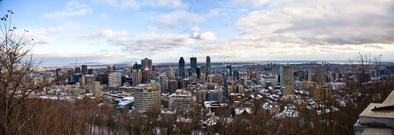 городской взгляд montreal панорамный стоковое изображение rf