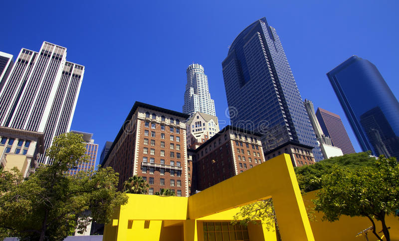 Городской город зданий Los Angeles стоковые изображения rf
