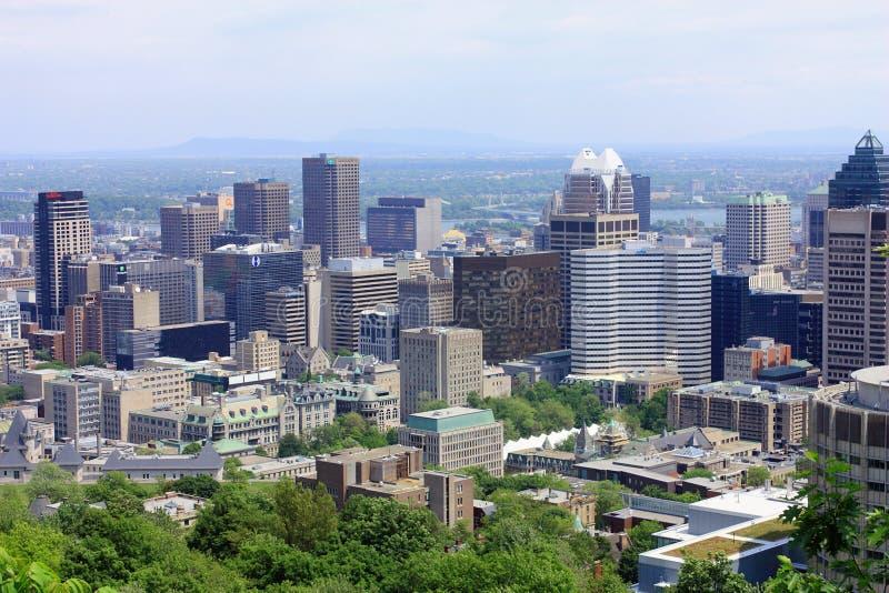 Городской Монреаль от держателя королевского, Квебека стоковые фото