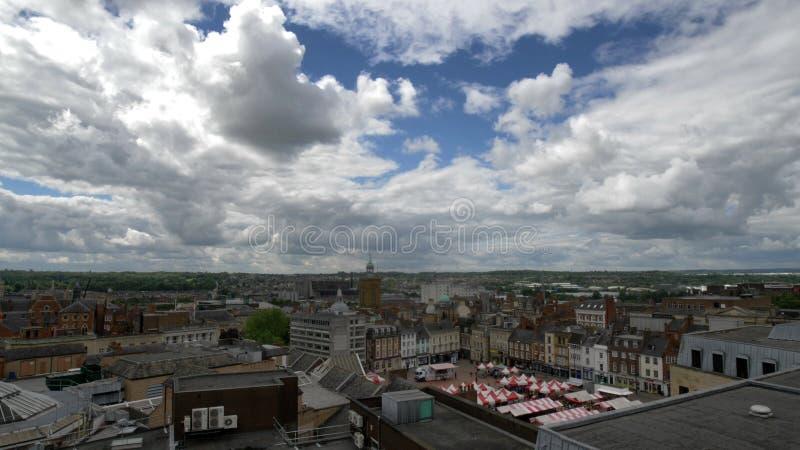Городской пейзаж Англия Northampton Town, Великобритания стоковая фотография