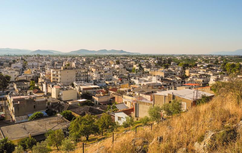 Городской пейзаж Аргоса стоковое фото rf