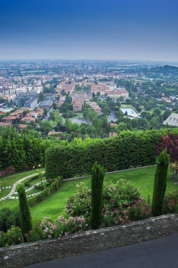 Городской пейзаж Бергама стоковые фотографии rf