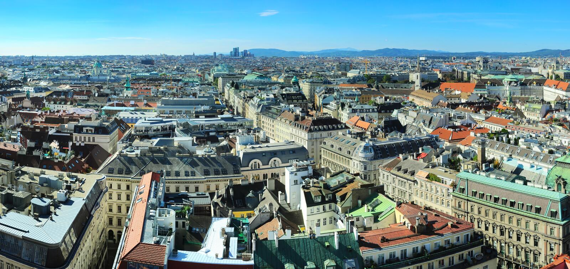 Городской пейзаж Вена стоковое фото
