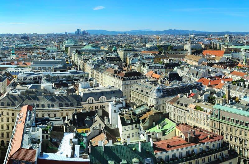 Городской пейзаж Вены стоковые изображения rf