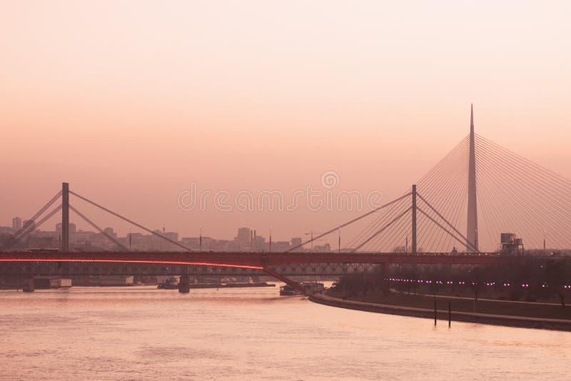 Городской пейзаж города Белграда стоковая фотография rf