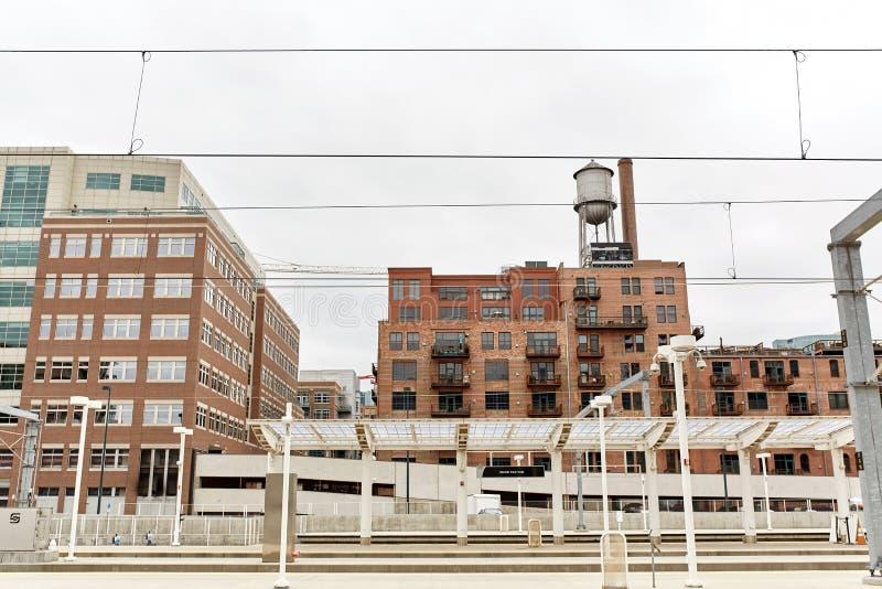 Городской пейзаж городского Денвер, Колорадо стоковые фото