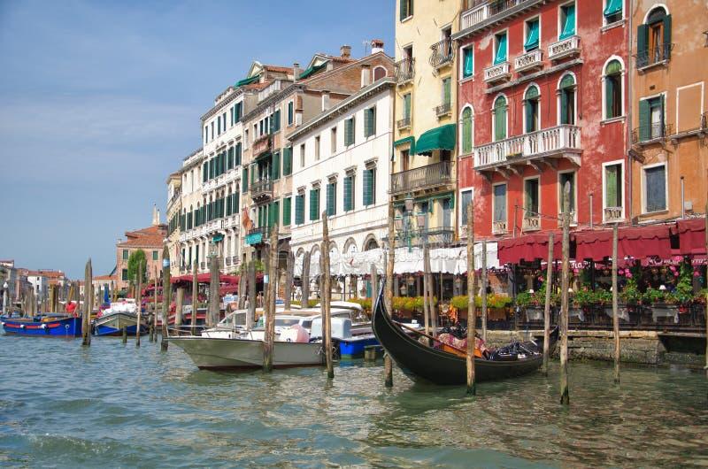 Городской пейзаж грандиозного канала, Венеция, Италия стоковое изображение rf