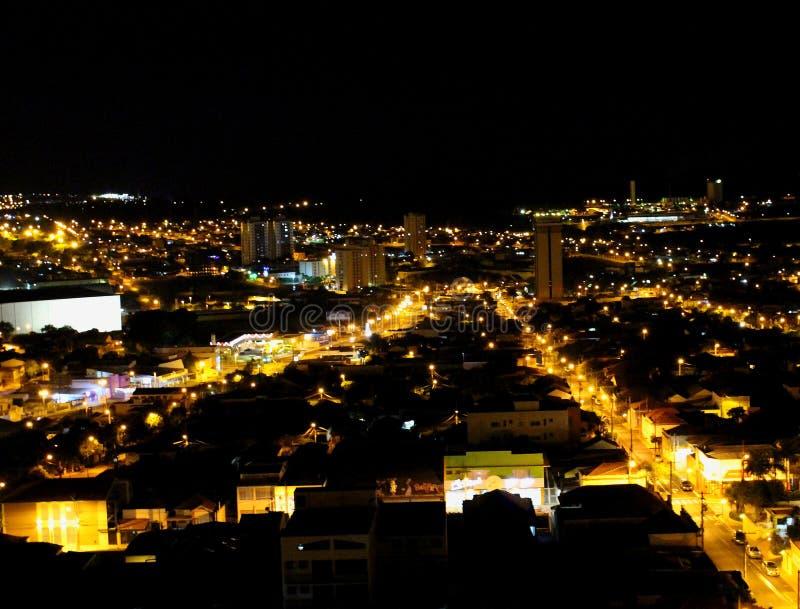 Городской пейзаж долгой выдержки в Araraquara в Бразилии, Paulo-MG Sao стоковая фотография rf