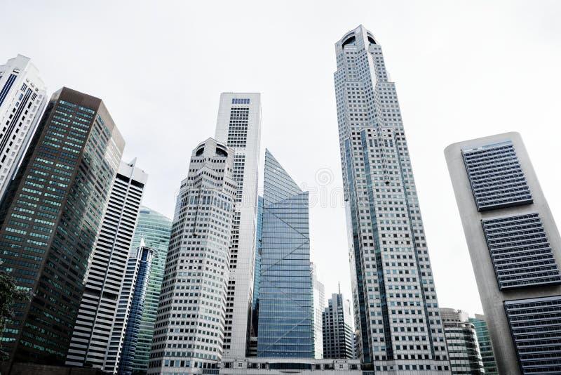 Городской пейзаж зданий в городское сценарном стоковое изображение
