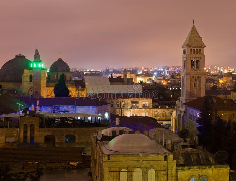 Городской пейзаж Иерусалима стоковое фото