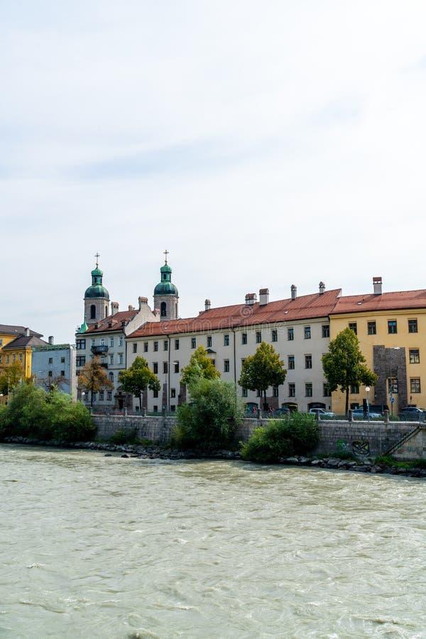 Городской пейзаж Инсбрука, Австрия стоковое фото