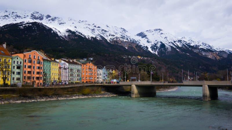 Городской пейзаж Инсбрука стоковая фотография rf