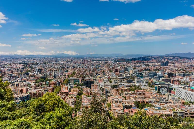 Городской пейзаж Колумбия горизонта Боготы стоковые изображения rf