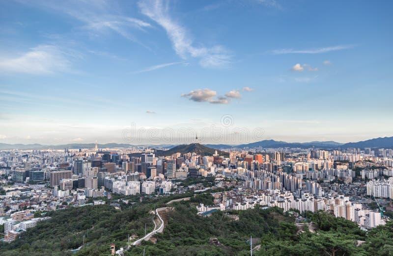 Городской пейзаж Кореи Сеула стоковое фото