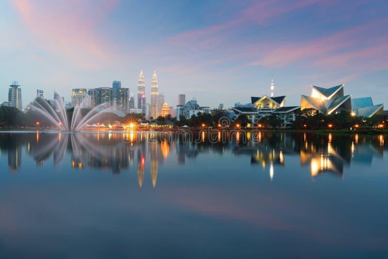 городской пейзаж Куала Лумпур изображение Куалаа-Лумпур, Малайзии во время s стоковые изображения rf