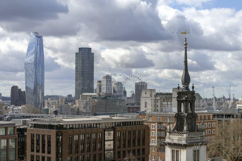 Городской пейзаж Лондона стоковое изображение