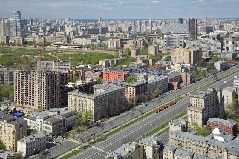 Городской пейзаж Москвы стоковые фото