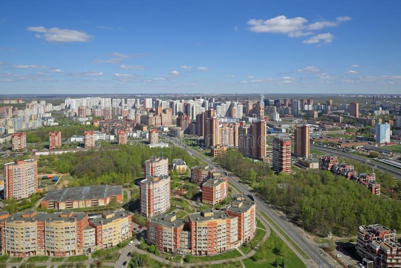 Городской пейзаж Москвы стоковая фотография rf
