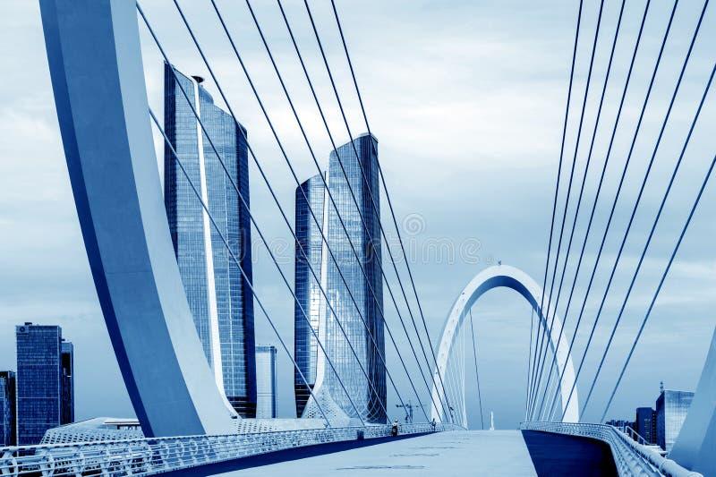 Городской пейзаж Нанкина, Китая стоковые изображения rf