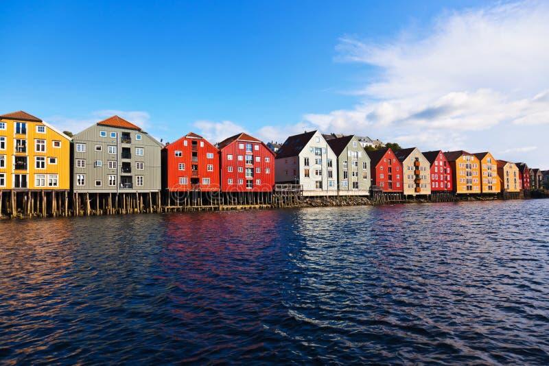 городской пейзаж Норвегия trondheim стоковые изображения rf