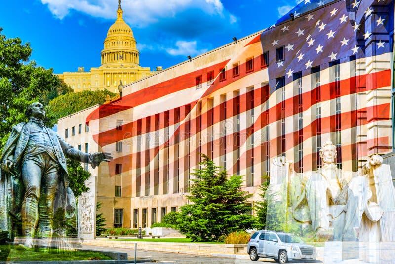 Городской городской пейзаж окружной суд e Вашингтона, США Здание суда Barrett Prettyman Соединенных Штатов стоковое изображение