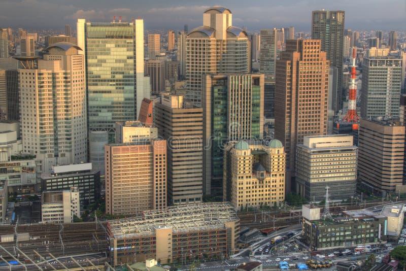 Городской пейзаж Осака стоковое изображение rf