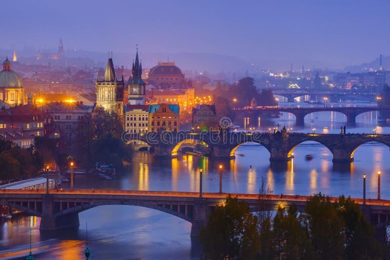 Городской пейзаж Праги - чехии стоковые изображения rf
