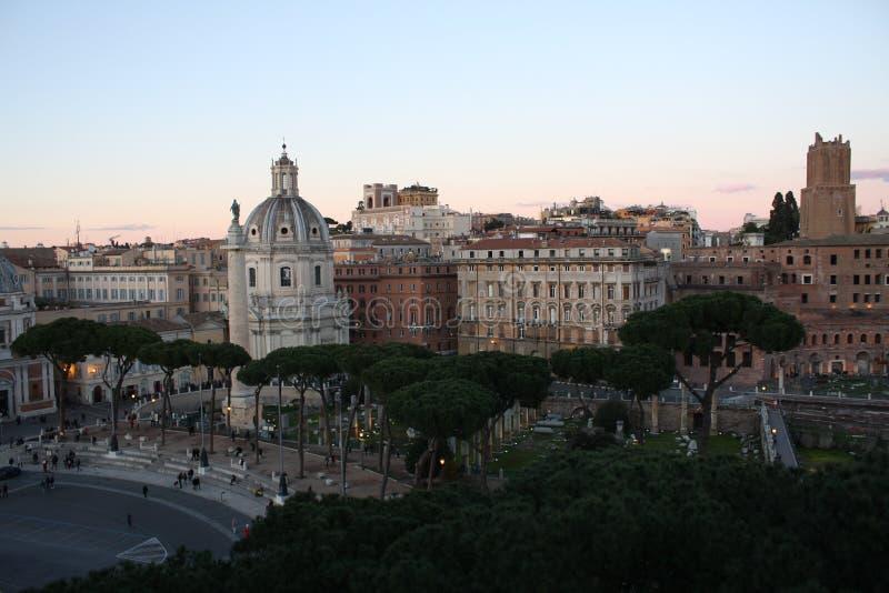 Городской пейзаж Рима Италии стоковое фото rf