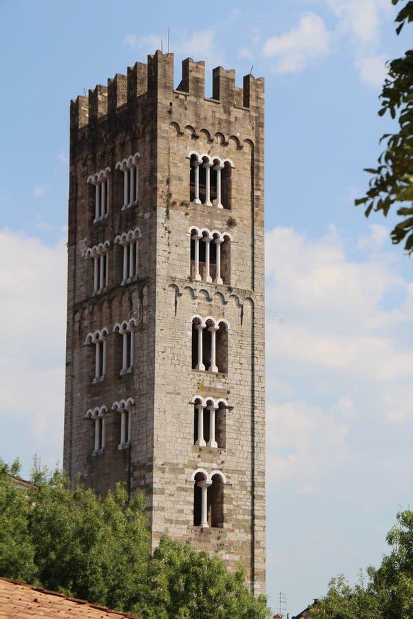 Городской пейзаж с взглядом башни стоковые изображения rf