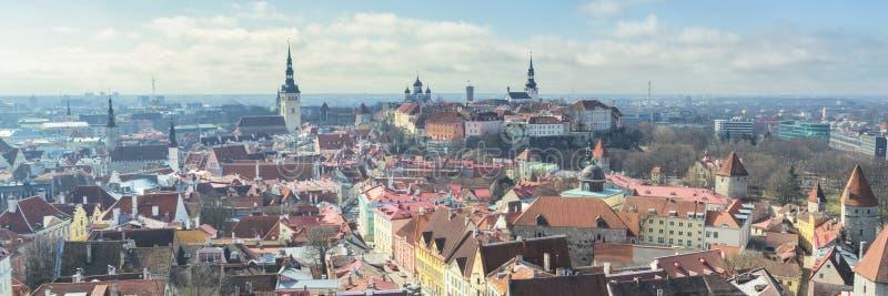 Городской пейзаж Таллина, Эстонии стоковая фотография rf
