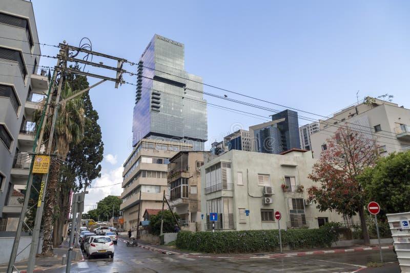 Городской пейзаж Тель-Авив, Израиля стоковое фото