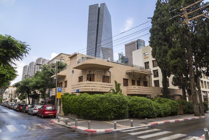 Городской пейзаж Тель-Авив, Израиля стоковое фото rf