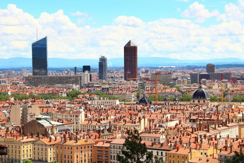 городской пейзаж Франция lyon стоковое фото rf