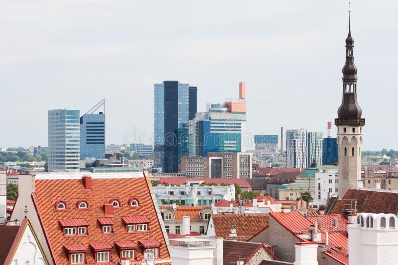 городской пейзаж эстония tallinn стоковая фотография rf