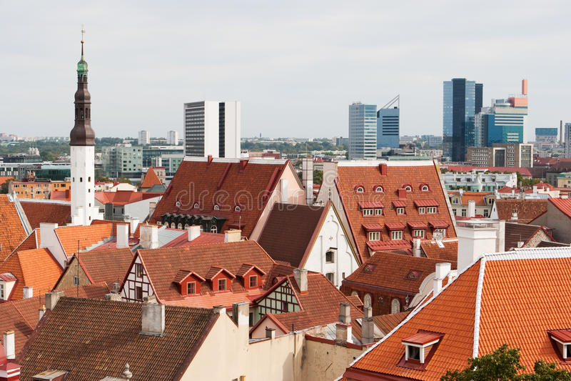 городской пейзаж эстония tallinn стоковая фотография